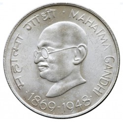 10 Rupees Silver Coin of...