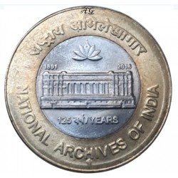 10 Rupees 125th Year of...