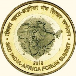 10 Rupees 3rd India Africa...