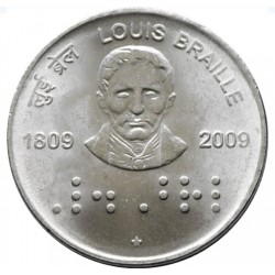 2 Rupees Louis Braille...