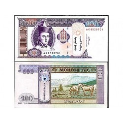 MONGOLIA 100 TUGRIK UNC...