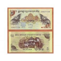 BHUTAN 5 NGULTRUM CRISP...