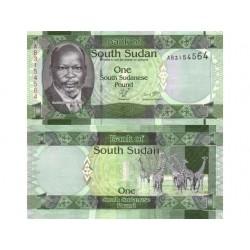SOUTH SUDAN 1 POUND CRISP...