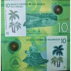 Nicaragua 10 Cordobas, 2014...
