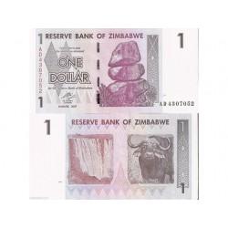 ZIMBABWE 1 DOLLAR CRISP...