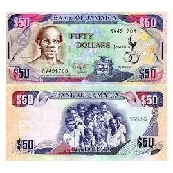 JAMAICA ~ 50 DOLLARS, 2018...