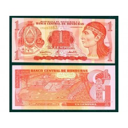 HONDURAS 1 LEMPIRA CRISP...